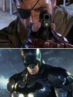 'Metal Gear Solid V: The Phantom Pain' e 'Batman: Arkham Knight': dois dos games mais aguardados de 2015 (Foto: Divulgação)