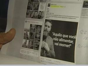 No documento, vereador mostra postagens de redes sociais em que o pastor aparece em horários que deveria estar trabalhando (Foto: Reprodução/TV TEM)