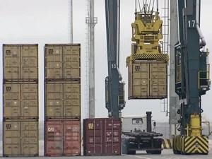Novo terminal pode aumentar em até 40% a capacidade do Porto de Santos, SP (Foto: Reprodução/TV Tribuna)