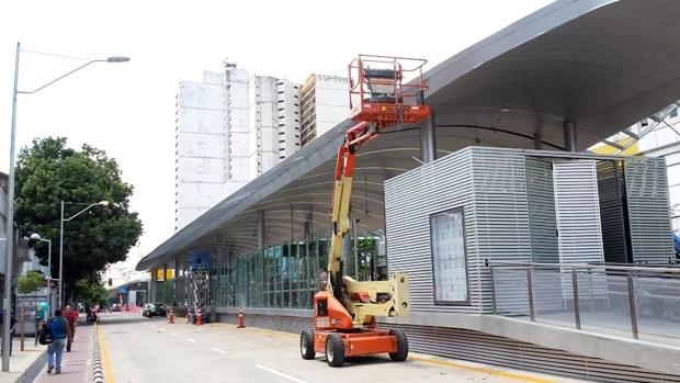 Estação do BRT na Região Central de Belo Horizonte. (Foto: Flávia Cristini/G1)