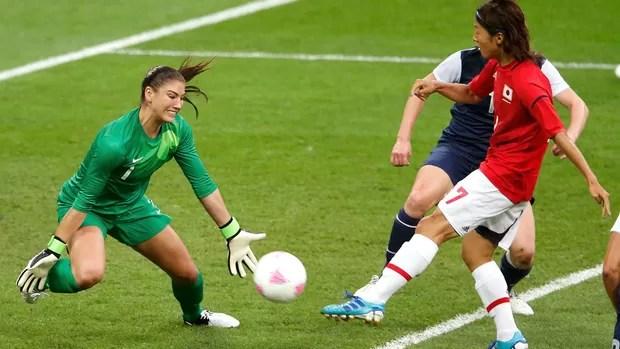 Hope Solo, EUA x Japão, Futebol Masculino (Foto: Agência Reuters)
