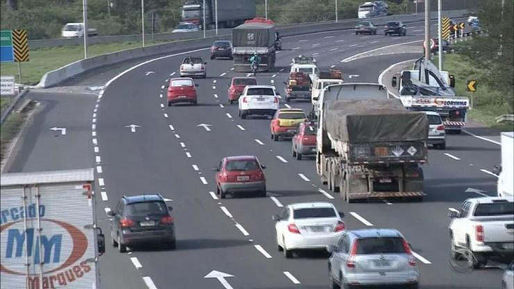 Único leilão de rodovia previsto para o ano é o do projeto Integração do Sul, que inclui trechos da BR-101/290/386/448. — Foto: Reprodução/RBS TV