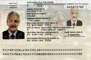 Site da Interpol traz imagem de passaporte de Celso Pizzolato, irmão do condenado foragido (Foto: Reprodução/Interpol)