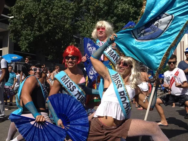 A UPP (União das Prima Pobre) também participa do desfile do Simpatia é Quase Amor, em Ipanema: grupo desfila caracterizado há três anos (Foto: Gabriel Barreira/G1)