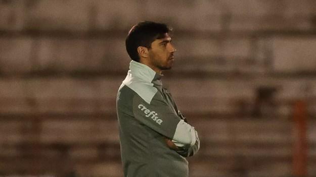 Abel Ferreira em Botafogo-SP x Palmeiras — Foto: Cesar Greco/Palmeiras