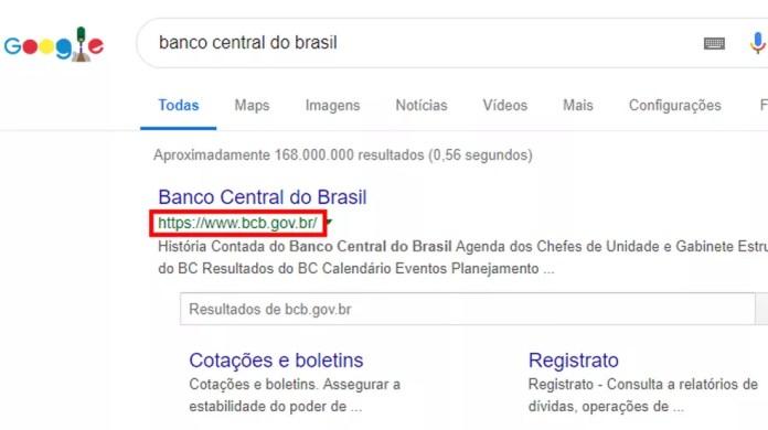 Google mostra sites verdadeiros no topo — Foto: Reprodução/Paulo Alves