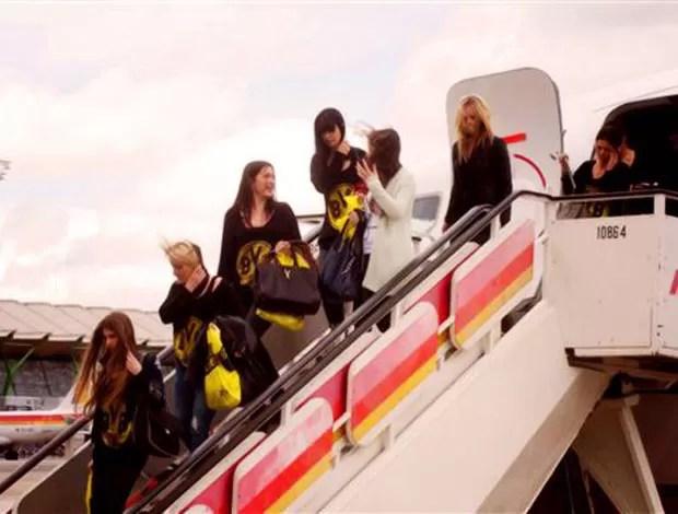 Mulheres jogadores Borussia Dortmund (Foto: AP)