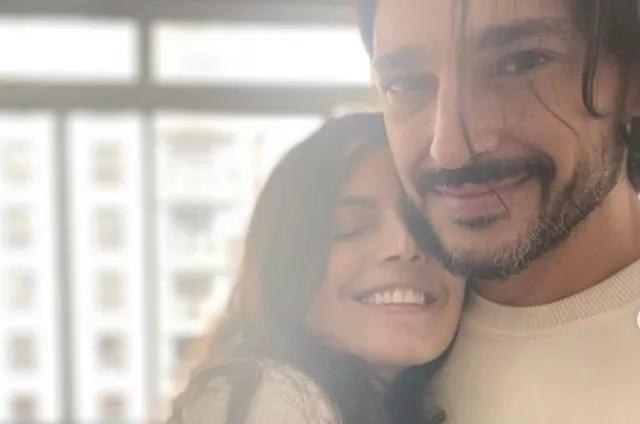 Emanuelle Araújo with her boyfriend, Fernando Diniz (Photo: Reproduction)