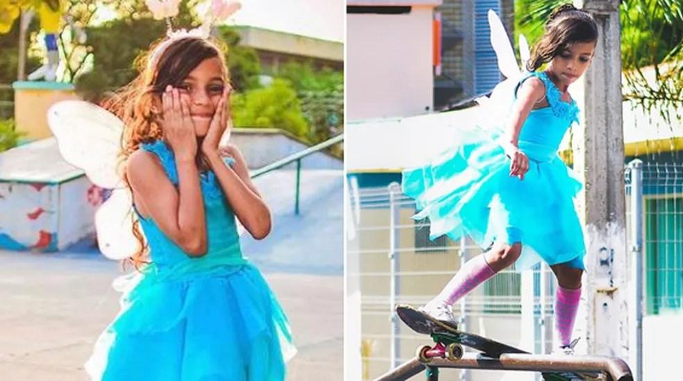 Rayssa Leal, a 'fadinha' do skate. — Foto: Arquivo pessoal