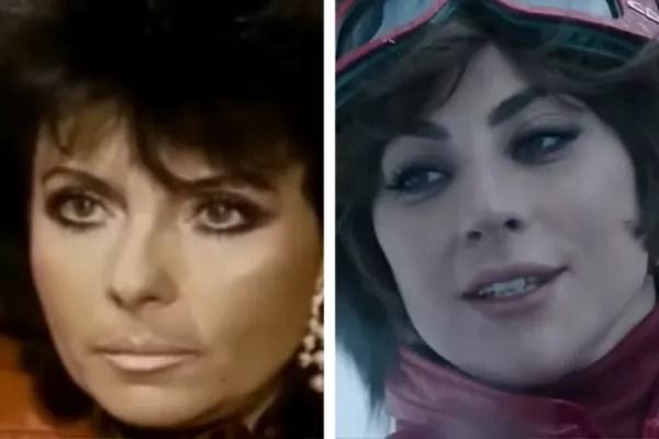 Patrizia Reggiani (left) and Lady Gaga in the film Gucci House (Photo: Reproduction)