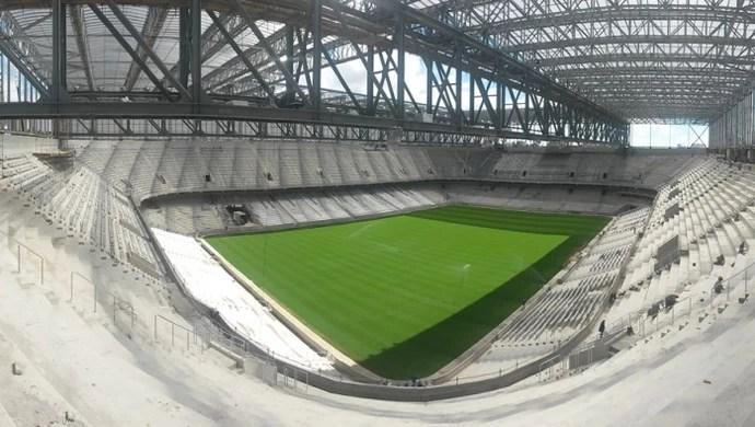 Arena da Baixada Atlético-PR 19 de fevereiro visão geral (Foto: Site oficial do Atlético-PR/Divulgação)