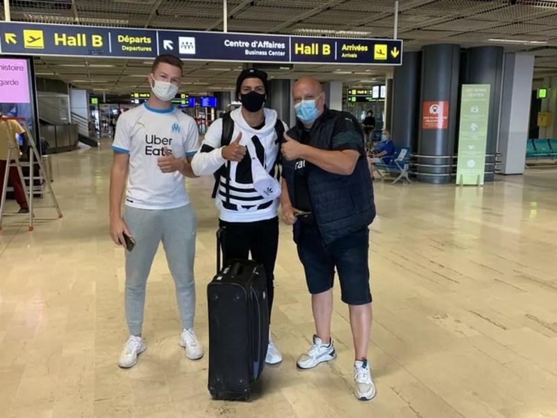 Luis Henrique, do Botafogo, foi aprovado pelo Olympique após exames — Foto: Reprodução/Twitter