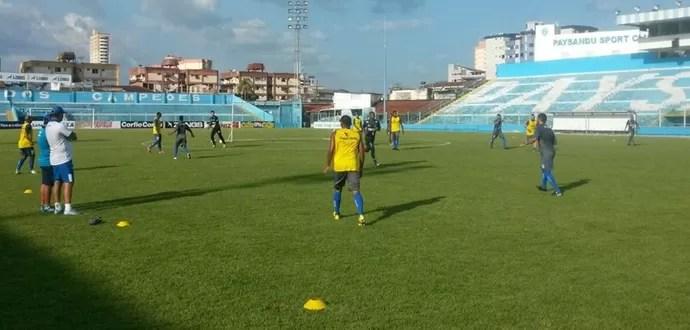 Confiança, treino, estádio da curuzu (Foto: Divulgação / ADC)
