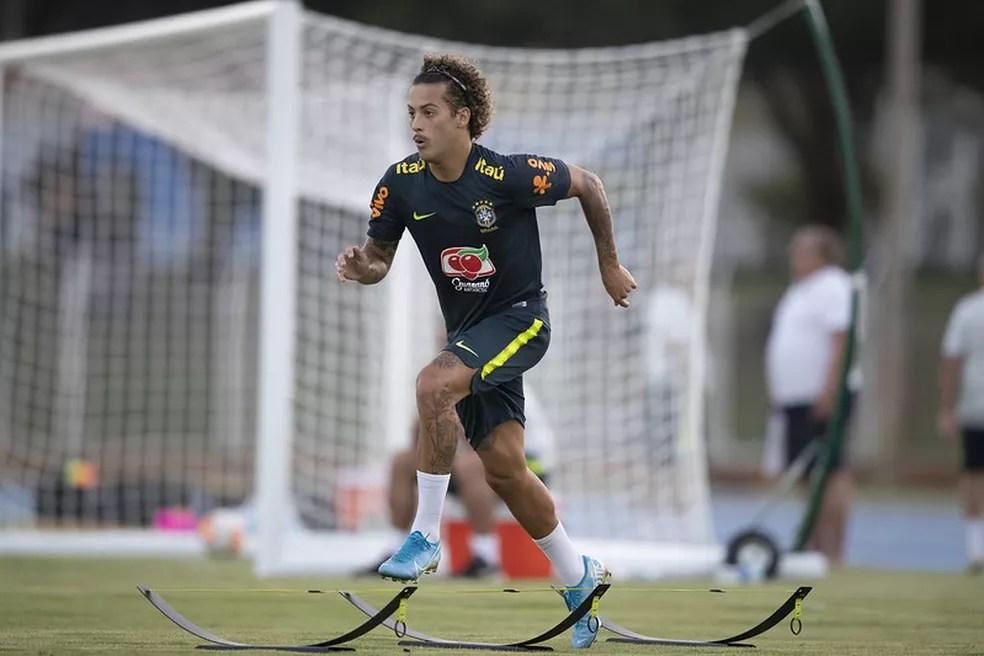 Guga voltará a ser titular da seleção sub-23 contra o Uruguai — Foto: Lucas Figueiredo / CBG