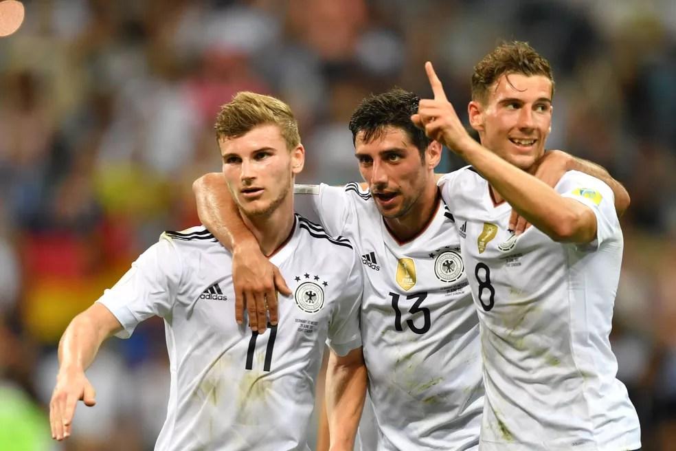 Werner, Stindl e Goretzka: destaques da Alemanha na Copa das Confederações (Foto: AFP)