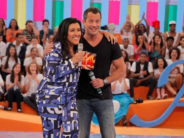 Malvino Salvador e Regina Casé (Foto: João Pedro Januário / Rede Globo)