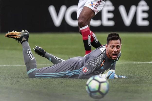 Diego Alves Corinthians x Flamengo — Foto: Ale Cabral/Estadão Conteúdo