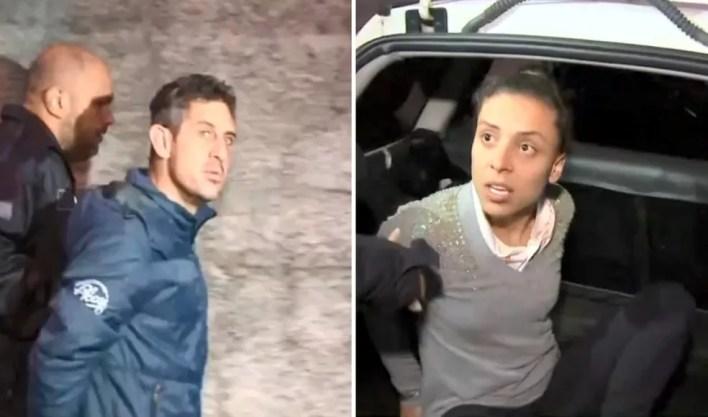 Casal suspeito de envolvimento na morte de Vitória Gabrielly é preso em Mairinque. Araçariguama (Foto: TV TEM/Reprodução)
