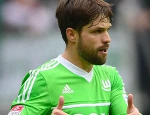Diego wolfsburg gol  Borussia Moenchengladbach (Foto: Agência EFE)