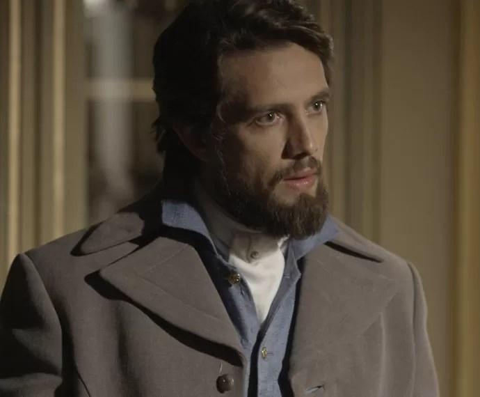O Conde fica chocado com a revelação de Severa (Foto: TV Globo)