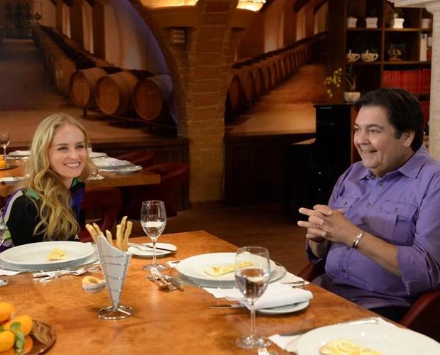 Angélica entrevista Faustão (Foto: Globo / Zé Paulo Cardeal)