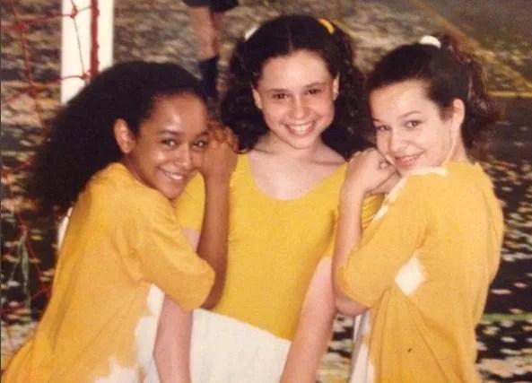 Aretha Oliveira, Francis Helena Cozta e Fernanda Souza na época de Chiquititas (Foto: Reprodução)