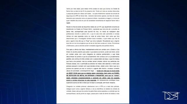 Delegado Ederson Martins se manifesta sobre o caso por meio de nota — Foto: Reprodução/TV Mirante
