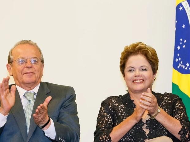 Governador do RS Tarso Genro ao lado da presidente Dilma Rousseff (Foto: Roberto Stuckert Filho/PR)