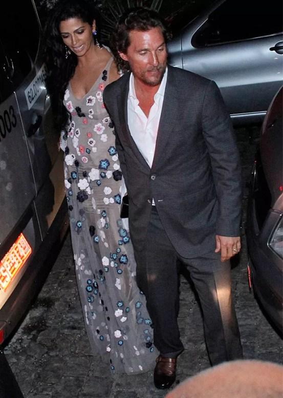 Matthew McConaughey e Camila Alves (Foto: Marcos Ferreira/ BrazilNews)