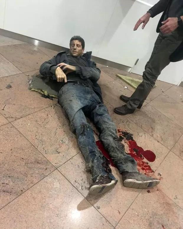 Ex-jogador de basquete brasileiro ficou ferido em atentado na Bélgica (Foto: Ketevan Kardava/ Georgian Public Broadcaster/AP)
