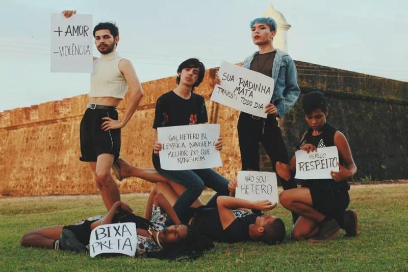 Em 2017, diante de casos de homofobia, grupo fez ensaio fotográfico contra o preconceito (Foto: Jonas Modesto/Arquivo Pessoal)