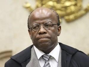 O ministro Joaquim Barbosa durante sessão do Supremo Tribunal Federal (Foto: Nelson Jr. / STF)
