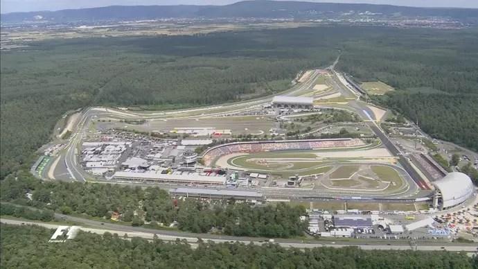 Vista aérea do Circuito de Hockenheim (Foto: Divulgação)