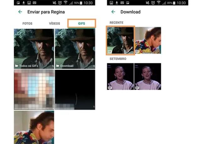 Encontre seus GIFs na galeria do WhatsApp (Foto: Reprodução/Barbara Mannara)