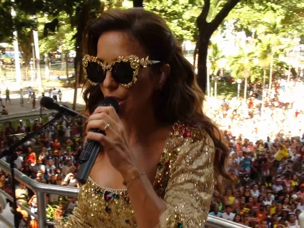 ivete sangalo; carnaval; bahia (Foto: Jairo Gonçalves / G1)