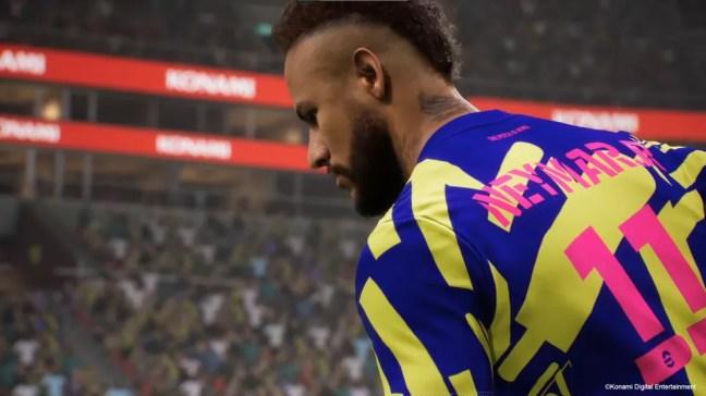 Neymar em eFotball 22 — Foto: Konami
