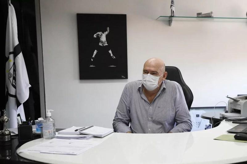 Andres Rueda, presidente do Santos — Foto: Pedro Ernesto Guerra Azevedo/Santos FC