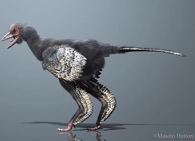 Mais uma concepção artística de como seria o animal pré-histórico (Foto: Masato Hattori)