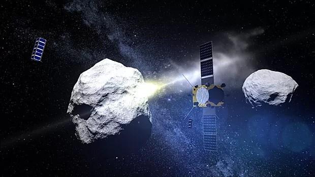 Resultado de imagem para desviar asteroide