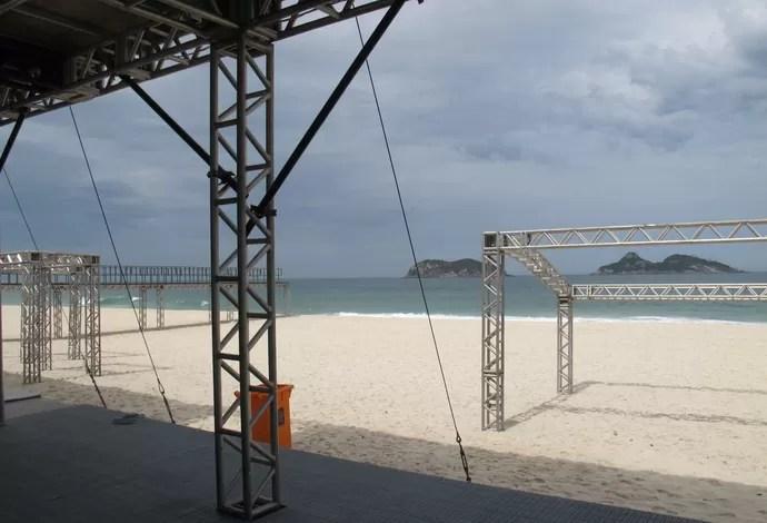 Vistorias etapa brasileira do Circuito Mundial de Surfe (Foto: Carol Fontes)