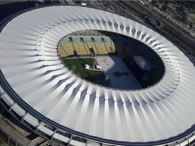 Maracanã pronto para o show dos Rollings Stones (Foto: Divulgação/Centro de Operações Rio)