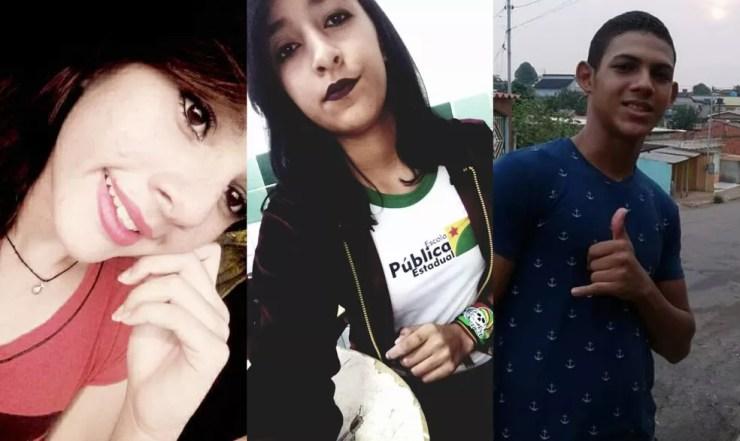 Amanda Gomes, Isabele Lima e Vitor de Lima sumiram no 5 de agosto do ano passado quando saíram para a Expoacre — Foto: Arquivo da família