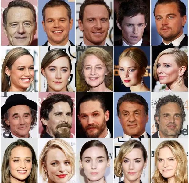 Indicados ao Oscar de ator: nenhum negro