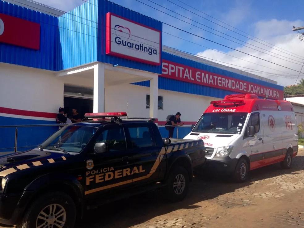 Operação da PF contra o desvio de verbas do SUS foi realizada em Guaratinga, no sul da Bahia (Foto: Polícia Federal/ Divulgação)
