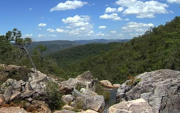 Parque Nacional da Chapada dos Veadeiros Goiás (Foto: Reprodução/TV Anhanguera)