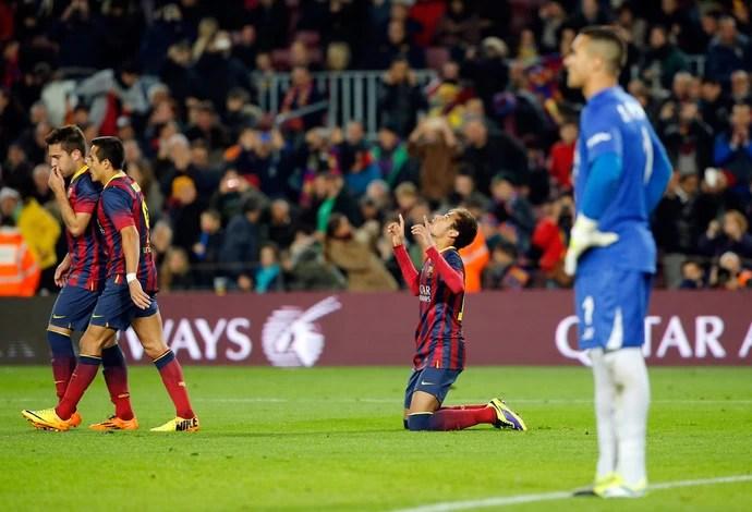 Neymar gol Barcelona (Foto: AP)
