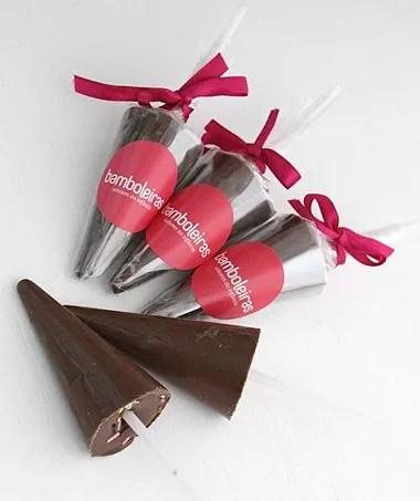 Guarda-chuva de chocolate (Foto: Casa e Comida)