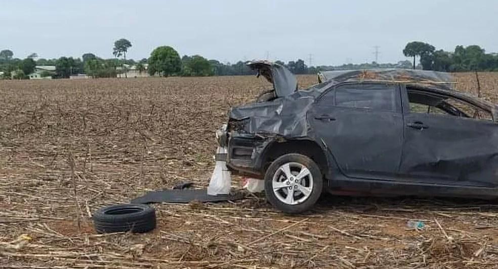 Vítima estava sozinha no veículo — Foto: Divulgação