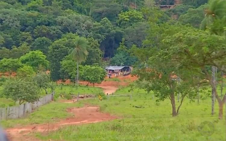 Garimpo ilegal da Serra da Borda foi invadido pela quarta vez em fevereiro deste ano (Foto: Reprodução/TVCA)
