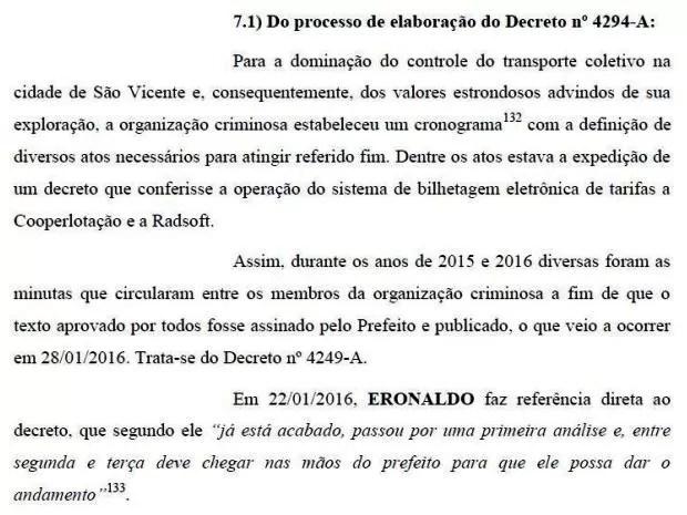 Decreto foi um dos pontos abordados pela denúncia do MP (Foto: Reprodução)